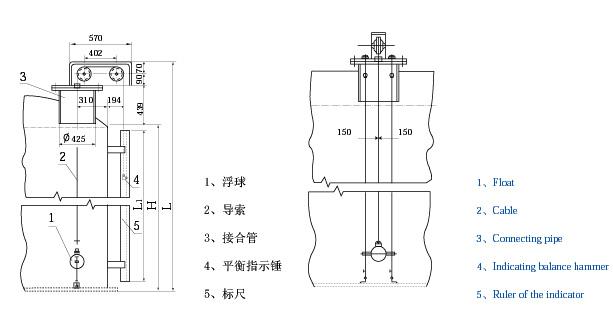 马桶浮子结构图